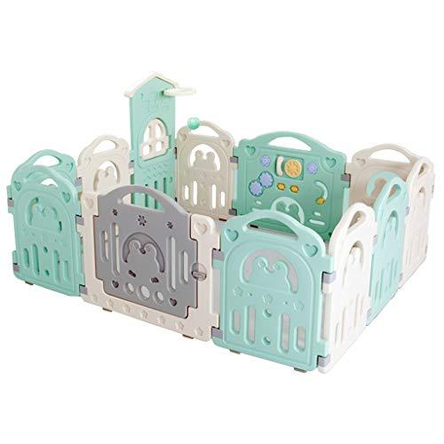 Clôture pour château de Parc pour bébé avec 12 Panneaux colorés, verrou de sécurité amélioré, modifiable en octogone, Rectangle, carré, Triangle en Tant Que Centre d'activité pour Nourrissons et TOU