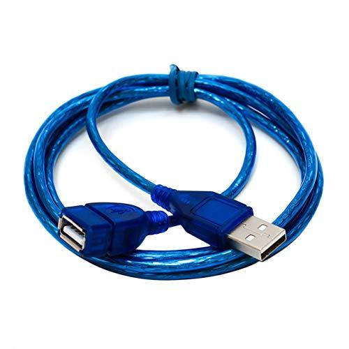 1.5M USB 2.0 Cable de extensión Macho a Hembra Cable de sincronización de Transferencia de Datos de extensión USB de Alta Velocidad para teléfono Celular Disco Duro Tablet PC - Azul 1.5M