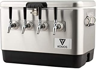 Komos 4 Tap Stainless Steel Draft Box