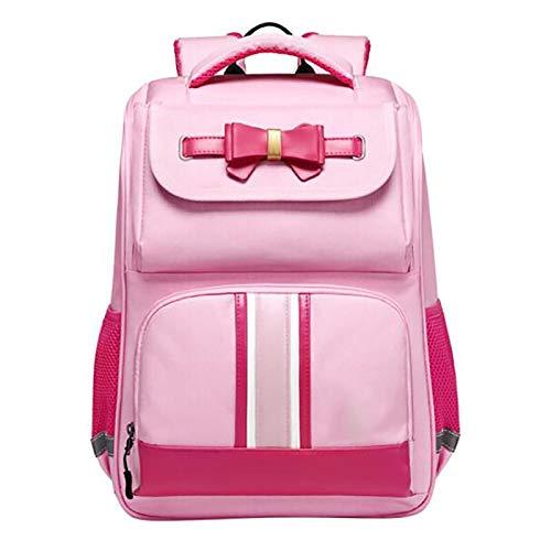 XJPGJL Fashion Backpack, Primary School Student School Bag Boys And Girls Children School Bag Burden Reduction Backpack Junior High School Students Leisure School Backpack, Pink,B