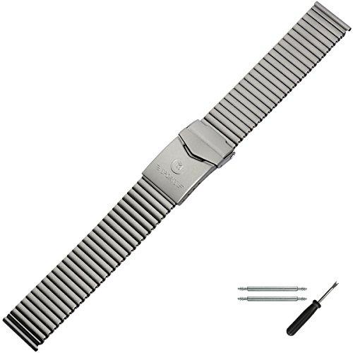 MARBURGER Uhrenarmband 18mm Edelstahl Grau Silber - Werkzeug Montage Set 86404000020