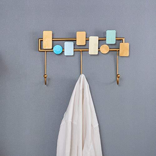 HUIJ Perchero de Pared,Hierro Art Vintage rústico Perchero,Accesorios para baño/Cocina Riel para Gancho de Toalla para Sombrero,Utilizado para Entrada,Sala de Estar y Dormitorio
