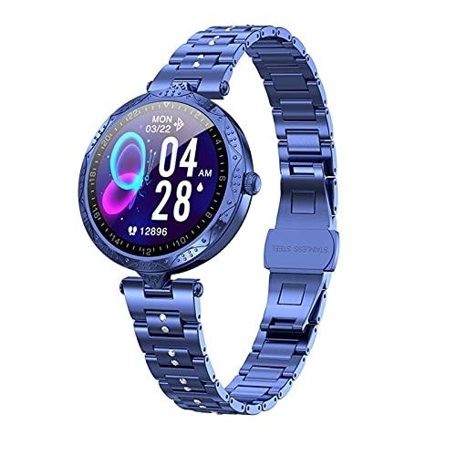 Mujer Smart Watch Luxury Diamond Bracelet Monitor de ritmo cardítico Pedómetro Reloj de pulsera CALORIE Contador de la presión arterial RECORDATORIO DE MENSAJE DE MENSAJE DE LADERES Relojes de aptitud
