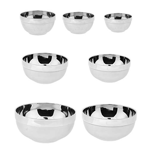 Hellery 7 Pieces/Set Steel Soup Bowl Isolated for Camping Hiking Kitchen Grill