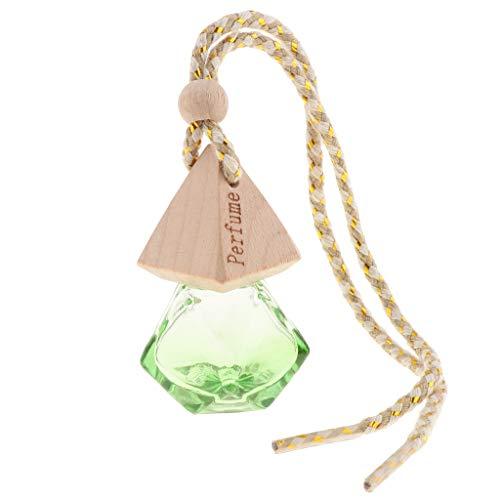 perfk Ambientador de Coche Ambientador de Vidrio Atomizador Perfume Encanto Botella de Perfume 6ml - Verde, Individual