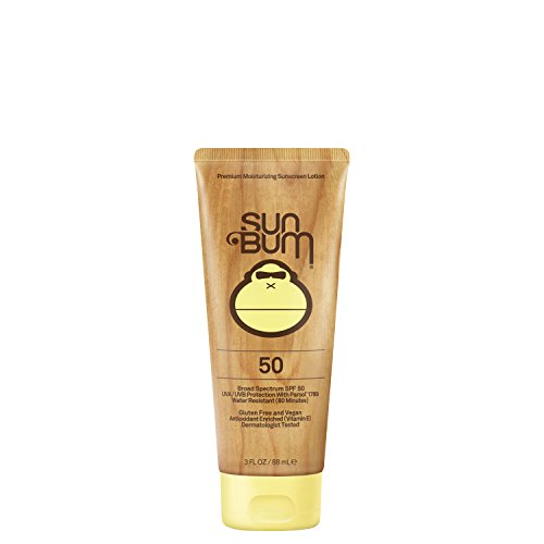 Sun Bum Original SPF 50 Sunscreen Lotion | Vegan and Reef Friendly (Octinoxate & Oxybenzone Free) Broad Spectrum Moisturizing UVA/UVB Sunscreen with Vitamin E | 3 oz