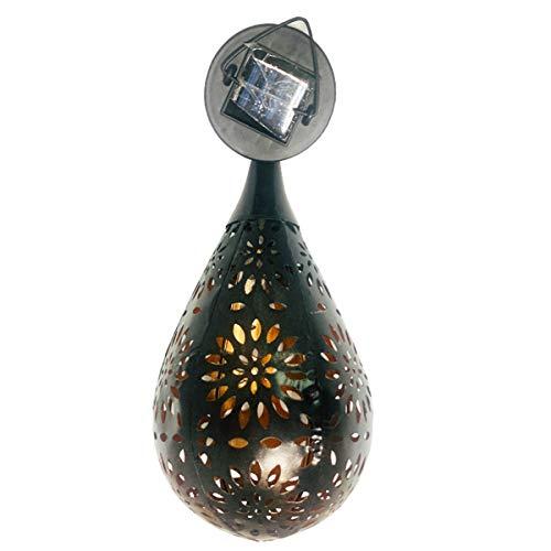 Qiraoxy Linterna solar luz al aire libre impermeable colgante luz para jardín patio patio patio decoración proyección lámpara impermeable hierro forjado araña