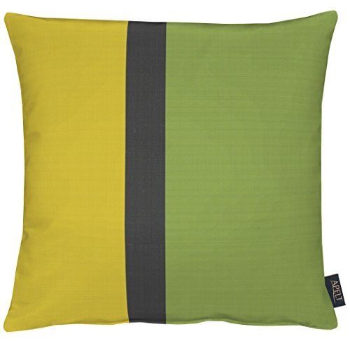 Apelt - Funda de cojín (poliéster, 46 x 46 cm), Color Verde