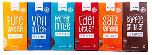 Xucker Xylit-Schokolade - Probierset mit Erdbeer-Joghurt (6 units)