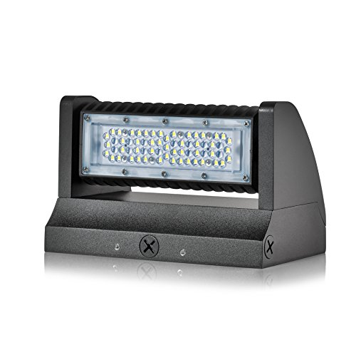 Hyperikon LED Wall Pack Rotatable, Outdoor Area Light Fixture, UL, DLC, IP65 Waterproof, 40 Watts