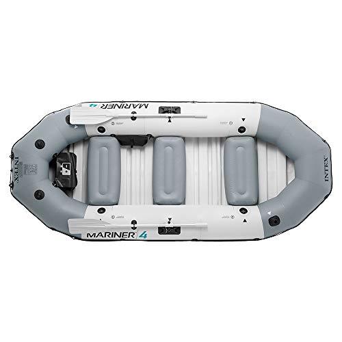 Intex Unisex– Erwachsene Schlauchboot Boot Mariner 4 Set Phthalates Free Inkl. Paddel und Luftpumpe-Professional Series, Grau, 328 x 145 x 48 cm (L x B x H) - 3