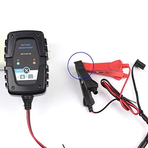 Frieed 6V 12V 1A Coche de Motocicleta AGM Reparación de pulsos Cargador de batería SAE 4AH-60AH Durable (Color : EU Plug)