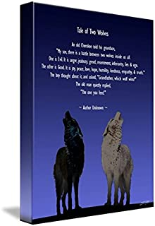 Imagekind Wall Art Print Entitled Tale of Two Wolves by I.M. Spadecaller | 11 x 15