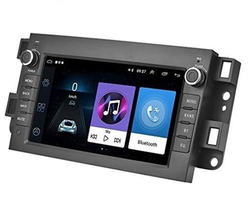 Android 9.1 Autoradio 2 Din Bluetooth Vivavoce, Car Radio con Navigatore per Chevrolet, Holden, Daewoo, Supporta Radio FM, WiFi, Mirror Link, doppia USB, controllo del volante + Telecamera posteriore