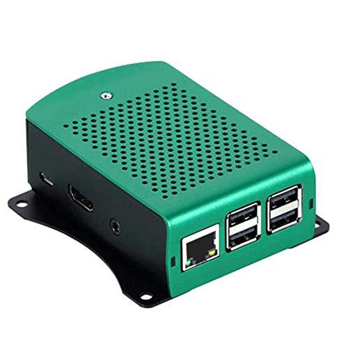 CVBN para Raspberry Pi 3 Modelo B + Carcasa de Aluminio con Ventilador Carcasa de Metal, Plateado