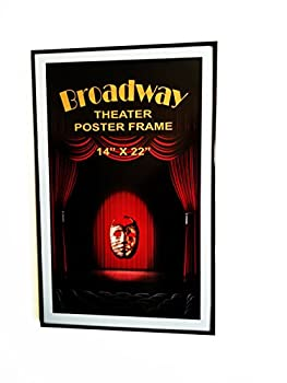 Broadway Theater 14  x 22  Poster Card Frame  Black