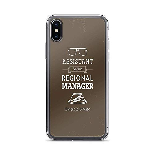 Roadiress The Office Dunder Mifflin - Assistant to The Regional Manager Compatible con iPhone 12/12Pro MAX 12 Mini 11 Pro MAX XR XS/XsMax SE 2020 7 8 6/6s Plus Samsung Series Funda Protectora