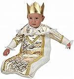 Atosa-96362 Atosa-96362-Costume Deguisement Roi Mage Mois-Doré-Garçon, 96362, 0 a 6 Meses