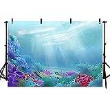 Fondos de fotos Fundación de dibujos animados para Fotografía Plantas de Coral Fish Ocean Fondo para Niños Fotografía Estudio de Fotografía Personalizado para Sesión de Fotos-8x6 pies