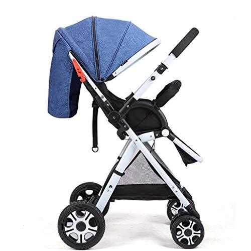 KHUY Cochecito Elegante Depreciación Plegado del Cochecito de niño con Errores Ventilación Cochecito de niño Desde el Nacimiento hasta los 3,5 años (0-15kg) (Color : Blue, Size : B)