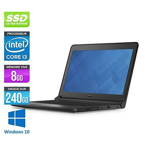 Dell Latitude 3350 - Ordenador portátil (13,3 pulgadas), color gris (Intel Core i5 5200U/2.2 GHz, 8 GB de RAM, SSD 250 GB, Webcam, Wi-Fi, Windows 10 Professional)