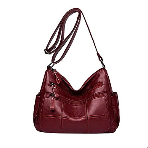 Yixikejiyouxian Umhängetasche Handtasche Sling Damen Umhängetasche Travel Sling Bag Damenmode Umhängetaschen Bucketbag - Rot