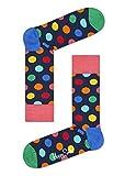 Happy Socks Damen Freizeitsocken Big Dot Socks ,Blau (Blau 6001), 36-40
