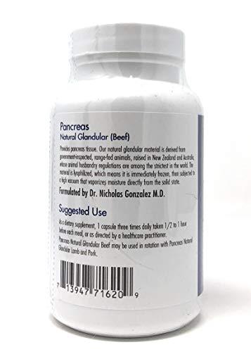 Pancreas Natural Glandular (Beef) 425 Milligrams 90 Veg Capsules
