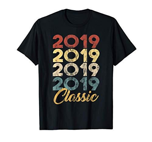 2º. Cumpleaños Nacido en 2019 Vintage 2 Retro Bday Regalo Camiseta