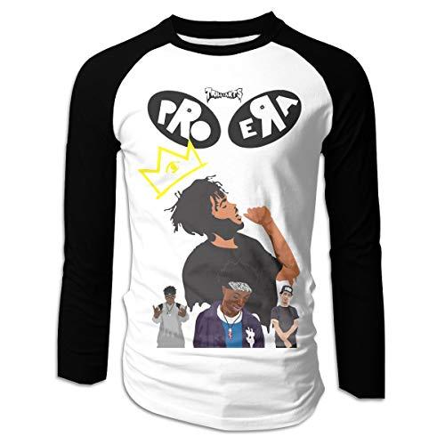 Johnson hop Camiseta de Manga Larga Pro-ERA Men Boy Manga Larga Fitness Contraste(XL,Negro)