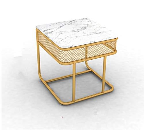 Gehumaniseerd ontwerp Metal Koffietafel, Large Area gemakkelijk te reinigen Coffee Table Thuis Bedroom Nachtkastje Tafellamp Can Place Desk Lamp Or Book Glad aanrecht ( Color : A , Size : 50*50*55CM )