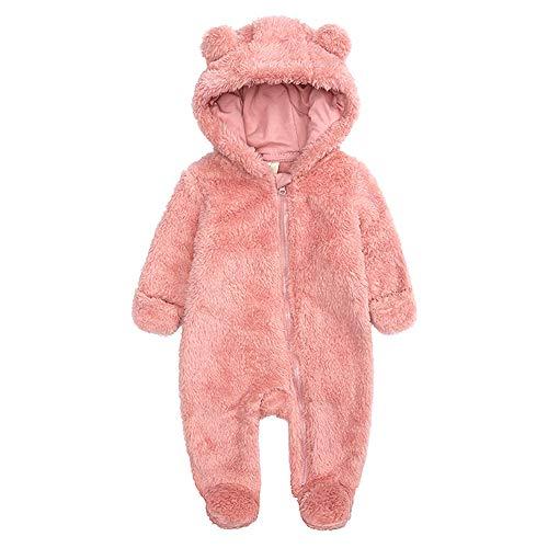 Curipeer Infant Baby Onesies Bodysuit Fleece Bunting Footed Jumpsuit Sleeper Pajamas 0-3M