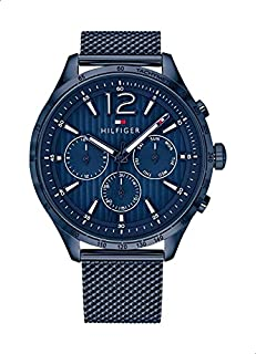 Tommy Hilfiger 1791471 Stainless Steel Round Analog Water Resistant Watch for Men - Navy