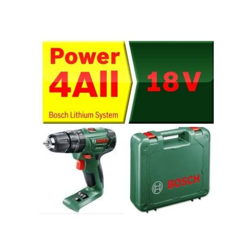 1ece234013920c BOSCH PSB 1800 LI CORDLESS COMBI HAMMER DRILL BODY ONLY + CARRYING CASE,  REPLACES OLDER PSB18LI2 BODY NEW COMPACT POWERFULL MODEL, COMPATIABLE WITH  ALL ...