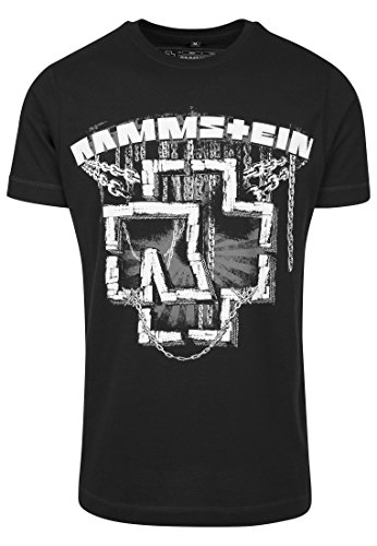 Rammstein Herren Ketten Tee T-Shirt, Black, XXL