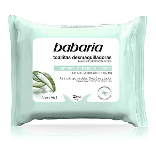 Babaria – Toallitas Desmaquillantes Aloe Vera...