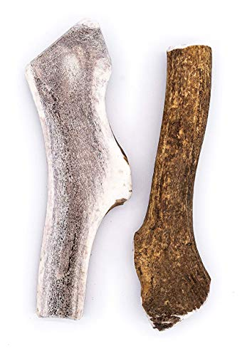 Perfect Pet Chews Split/Whole Elk Antler Combo Pack - Grade A, All Natural, Organic, and Long Lasting Treats - Made from Naturally Shed Antlers in The USA (H. Jumbo - Dog Weight Over 100 Lbs)