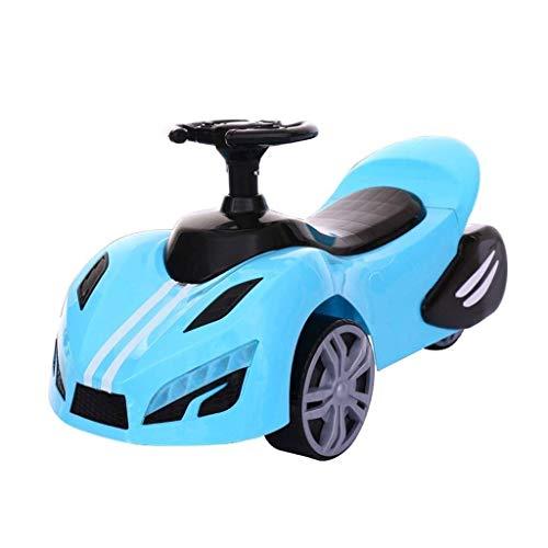8bayfa Mädchen Jungen Baby-Schwingen Und Twisting Auto, Kinder Skateboard mit Musik-Baby-Kleinkinder for 1-3 Jahre alte Kinder Unisex (Color : Blue)