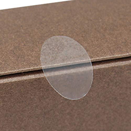 (なないろ館)2000枚 封印 ギフト シール 透明 丸シール 業務用 封かん 封筒 楕円形(2cm×3cm)