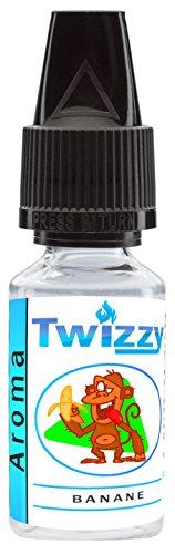 10ml Twizzy® Banane Aroma | Aroma für Shakes, Backen, Cocktails, Eis | Aroma für Dampf Liquid und E-Shishas | Flav Drops | Ohne Nikotin 0,0mg