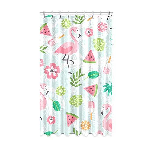 N\A Innenfenster Vorhang Sommer Kwaii zarte Flamingo Bunte Verdunkelungsvorhänge 50 x 84 Zoll EIN Stück für Patio Glasschiebetür/Schlafzimmer