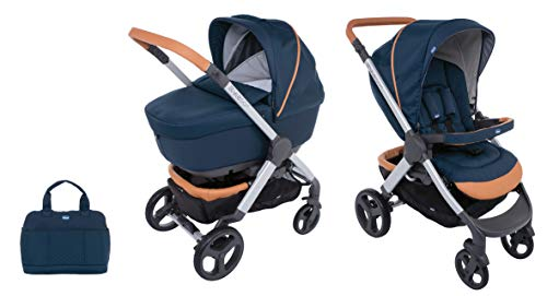Chicco Duo Stylego Up Crossover (Sportwagen + Kinderwagenaufsatz), iconic blue