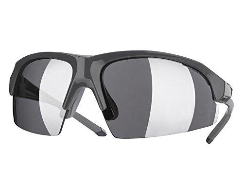 Sportbrille Sport Brille mit 100% UV Schutz in verschiedenen Farben (Anthrazit (glänzend))
