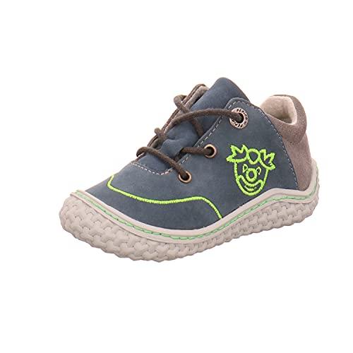 RICOSTA Kinder Low-Top Sneaker FIPS von Pepino, Weite: Mittel (WMS),Barfuß-Schuh, sportschuh Maedchen Kinderschuhe toben,Pavone,24 EU / 7 Child UK