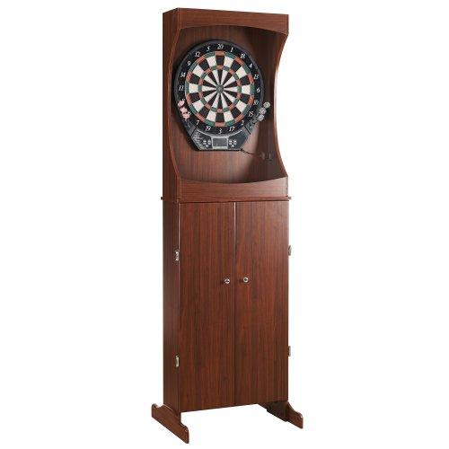 Centerpoint Solid Wood Dartboard Cabinet – Solid Poplar with Dark Cherry Finish
