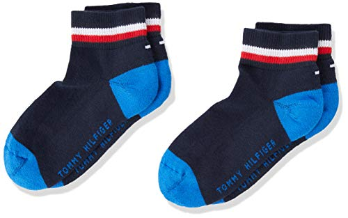 Tommy Hilfiger mens Iconic Kids' Sports Quarter (2 pack) Socks, midnight blue, 39/42 (2er Pack)