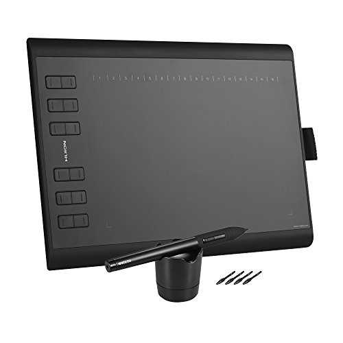 HUION 1060PLUS Portable Drawing Graphics Tablet Pad with 8G Memory Card Rechargeable Digital Pen