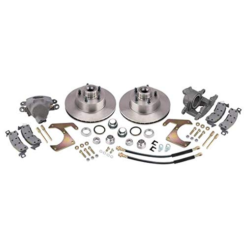 Deluxe Disc Brake Kit, Fits 1948-1956 Ford Half Ton, 5 x 4-1/2 Inch