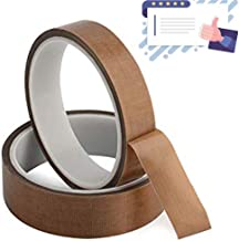 PTFE Coated Fabric Teflon Tape Adhesive Tape High Temperature 1/2Inch x 30 Foot (1/2Inch x 30 Foot)