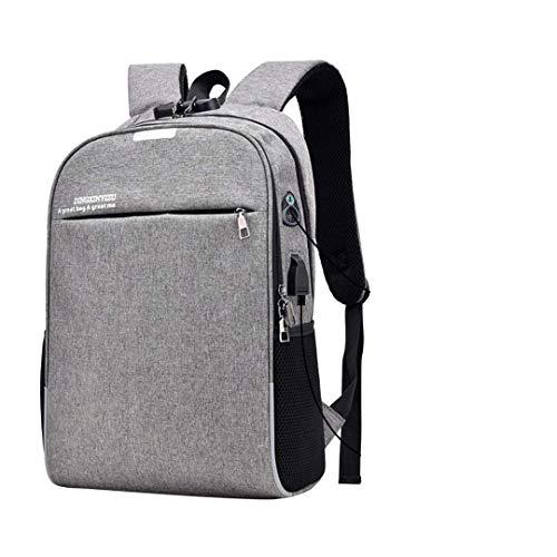 Thumby Sportieve rugzak, multifunctionele rugzak, duurzame diefstalbeveiliging, wachtwoordsloten, voor mannen, USB-oplaadzak, met stekker voor koptelefoon, business, reizen, rugzak, tas As shown grijs